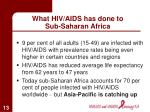 what hiv aids has done to sub saharan africa