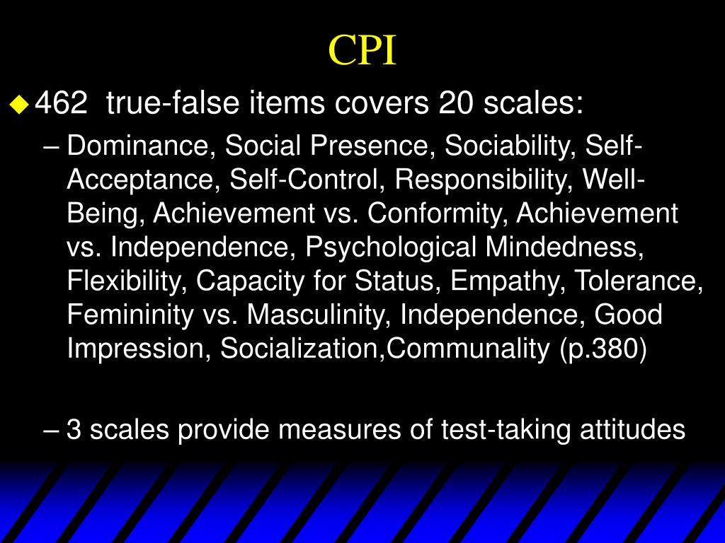 PPT - Personality Testing PowerPoint Presentation - ID:1272948