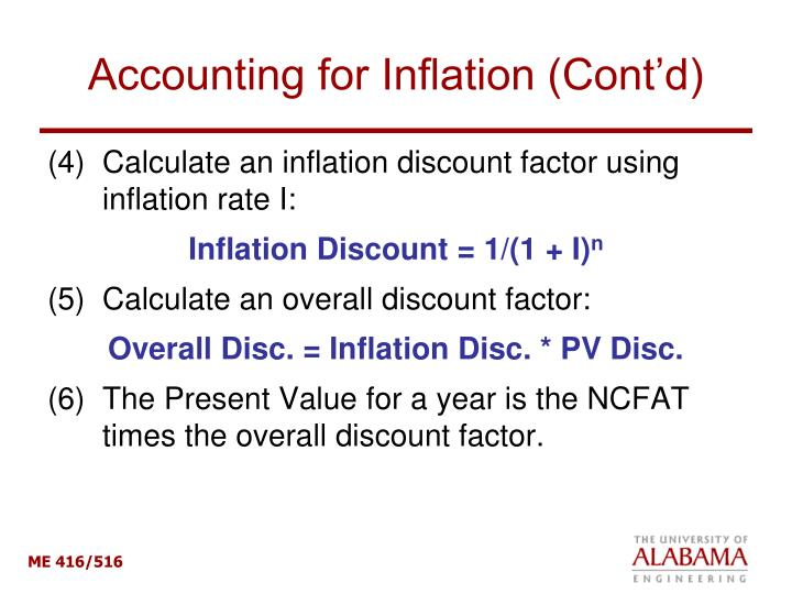 Accounting for Inflation (Cont'd)