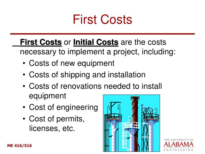 First Costs