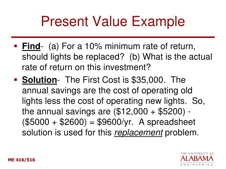 Present Value Example
