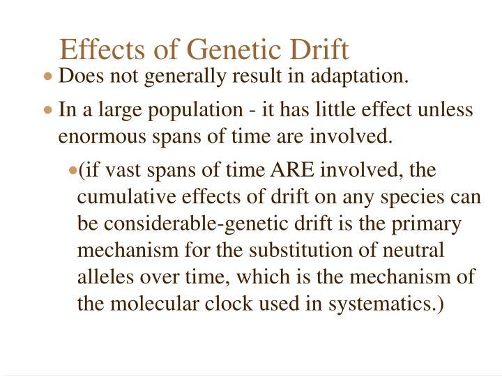 Effects of Genetic Drift