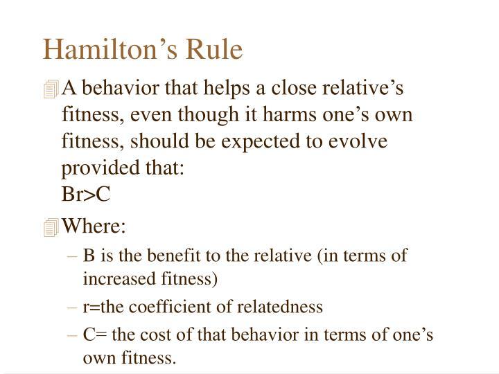 Hamilton's Rule