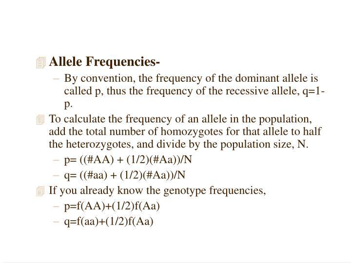 Allele Frequencies-