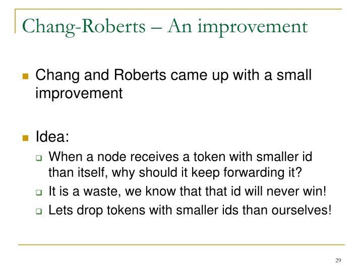 Chang-Roberts – An improvement