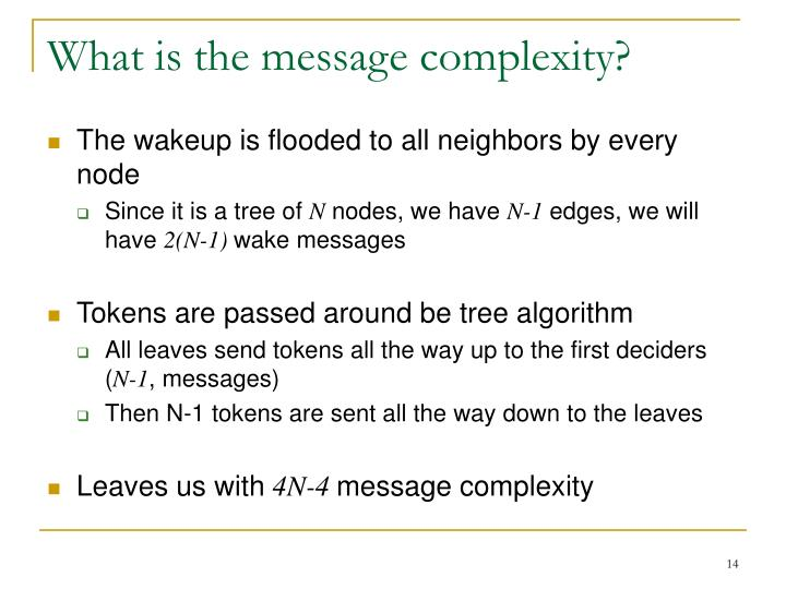 What is the message complexity?