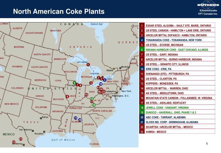 North American Coke Plants
