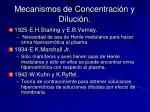 mecanismos de concentraci n y diluci n1