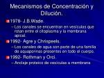 mecanismos de concentraci n y diluci n9