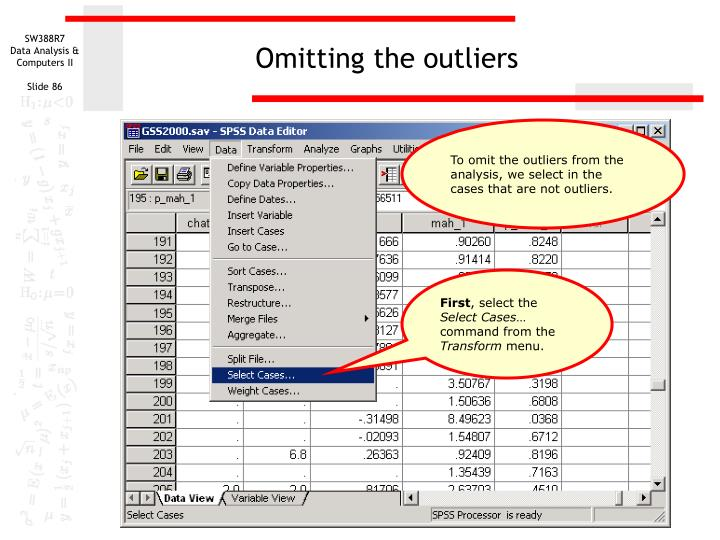 Omitting the outliers