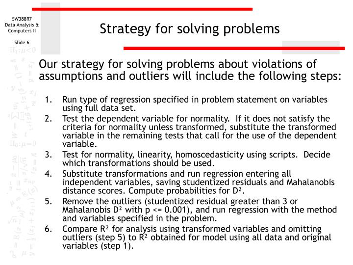 Strategy for solving problems