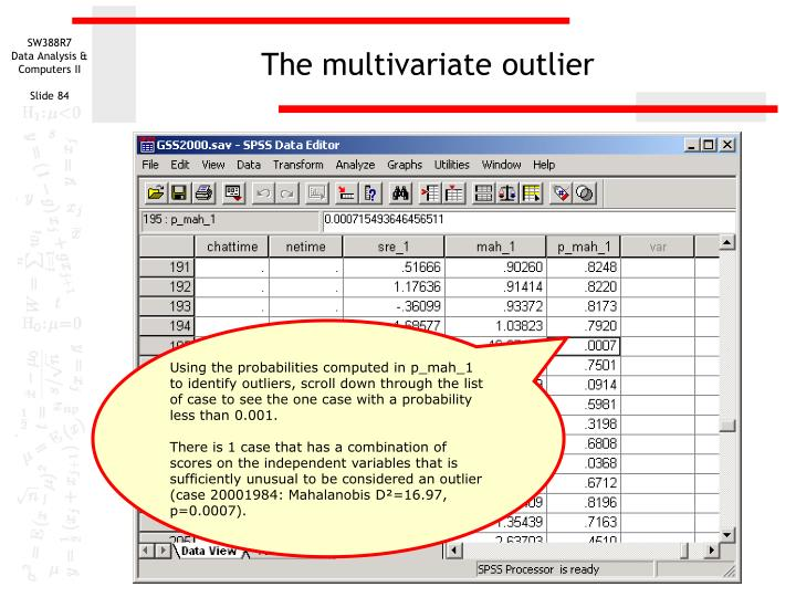 The multivariate outlier