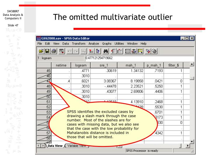 The omitted multivariate outlier
