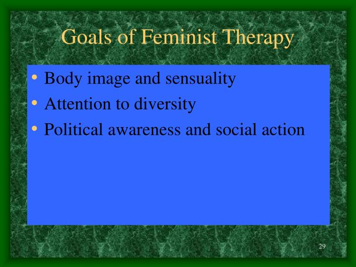 Goals of Feminist Therapy