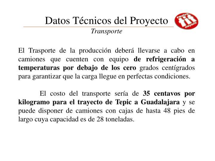 Datos Técnicos del Proyecto