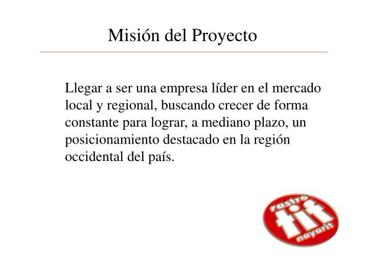Misión del Proyecto