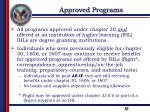 approved programs