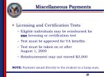 miscellaneous payments