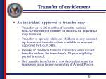 transfer of entitlement2