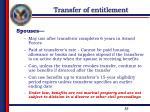 transfer of entitlement3