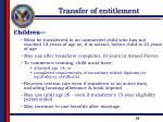 transfer of entitlement4