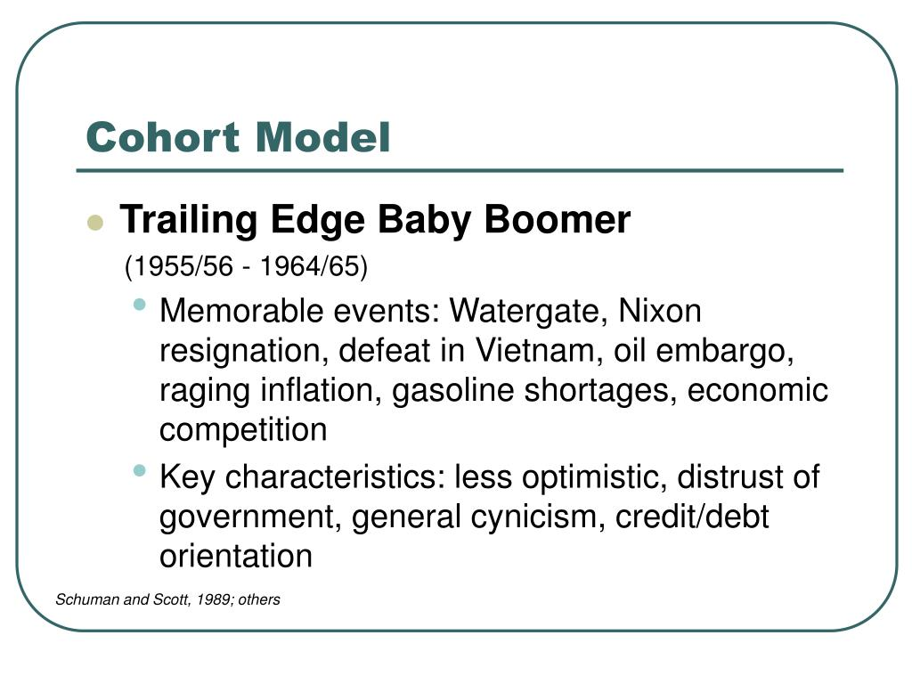 PPT - Generational Cohorts PowerPoint Presentation - ID ...
