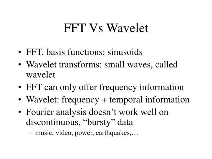 Fft vs wavelet