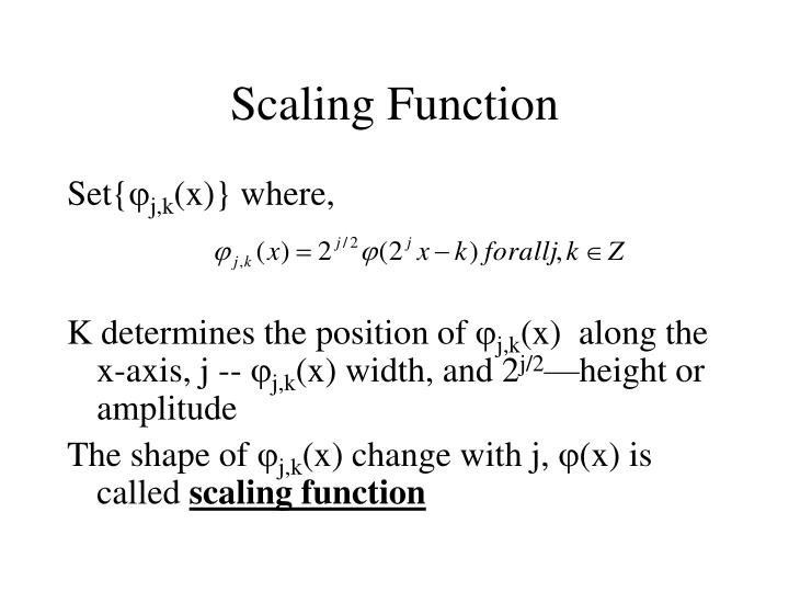 Scaling Function