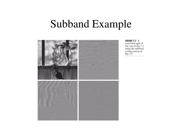 Subband Example
