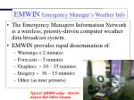 emwin emergency manager s weather info network