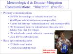 meteorological disaster mitigation communications blueprint pacific