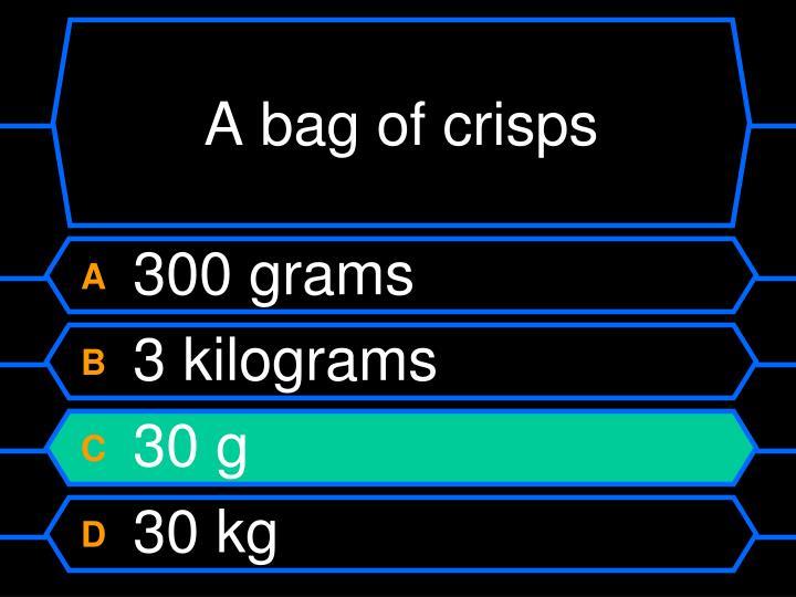 A bag of crisps