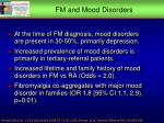 fm and mood disorders