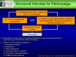 structured interview for fibromyalgia