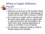 where is copper deficiency found