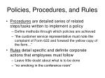 policies procedures and rules1