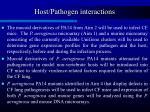host pathogen interactions