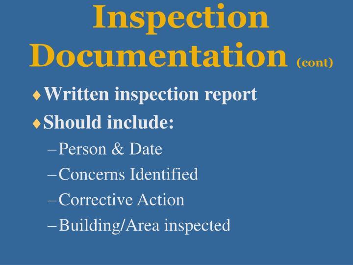 Inspection Documentation
