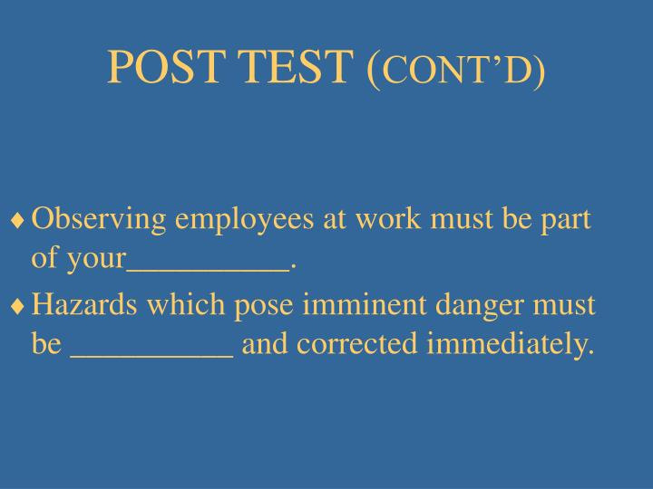 POST TEST (