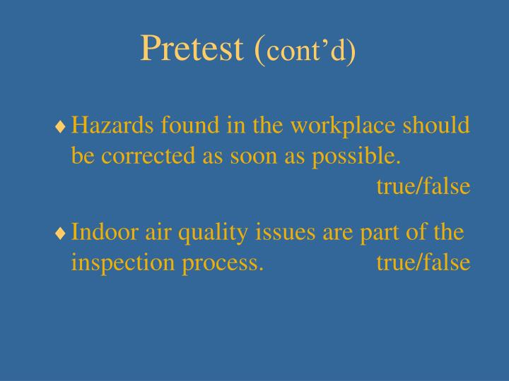 Pretest (
