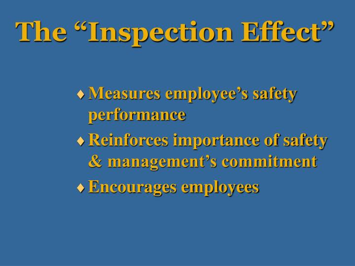 """The """"Inspection Effect"""""""
