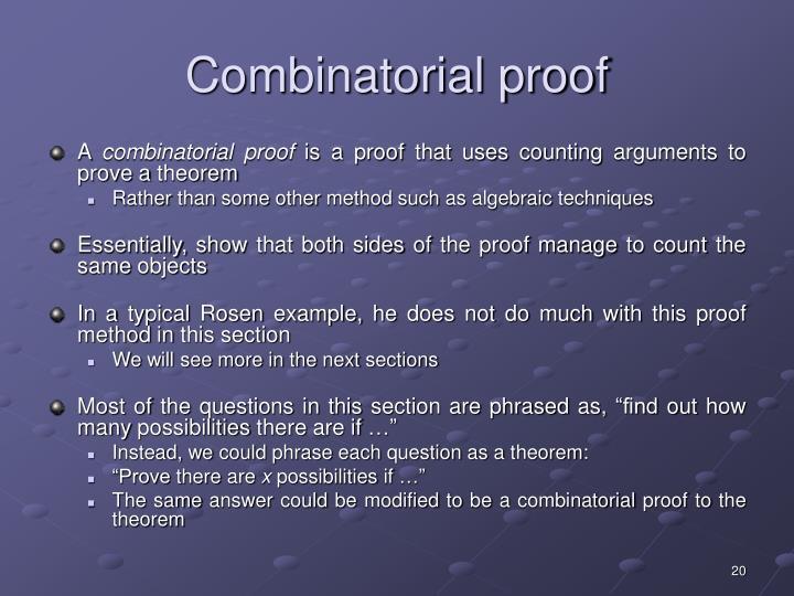 Combinatorial proof