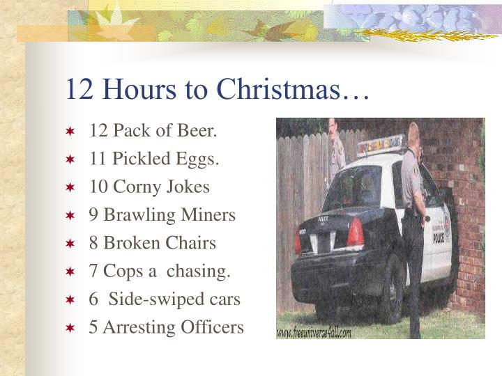12 Hours to Christmas…