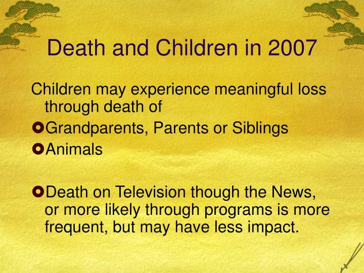 Death and children in 2007