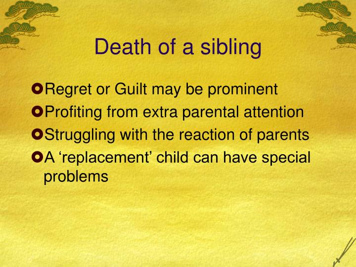 Death of a sibling