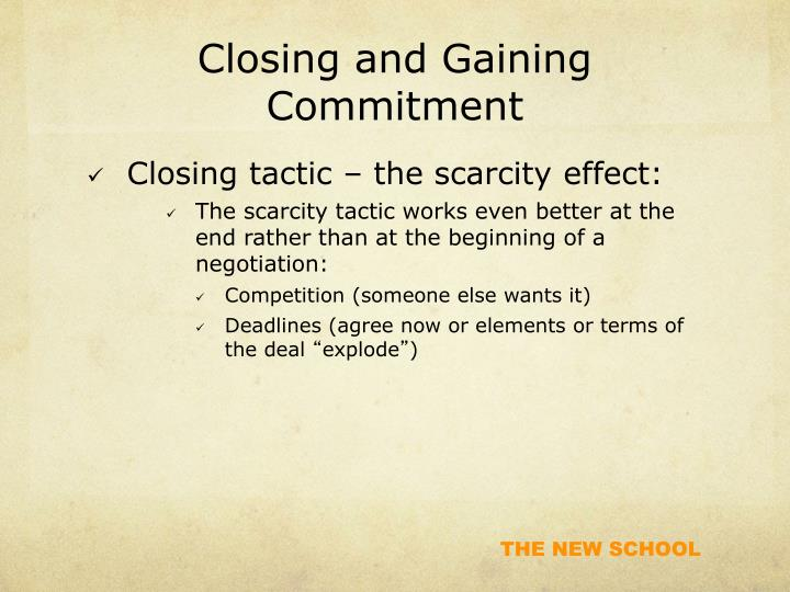 Closing and Gaining Commitment