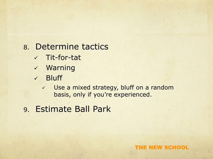 Determine tactics