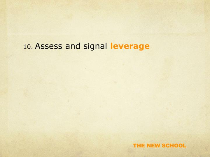 Assess and signal