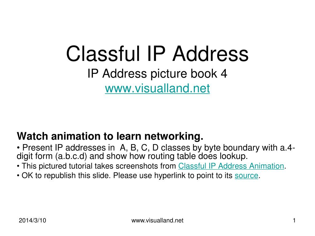classful ip address ip address picture book 4 www visualland net l.