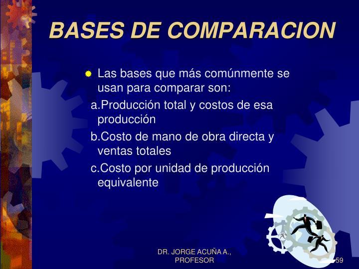 BASES DE COMPARACION